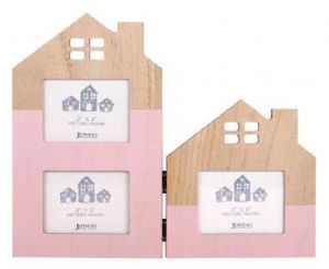 Double House Pink Frame